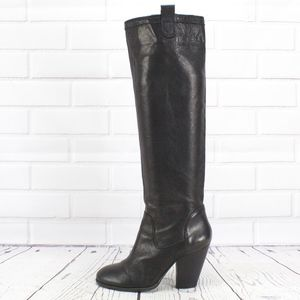 Vince Camuto Soft Leather Pull On Heeled Boots 7